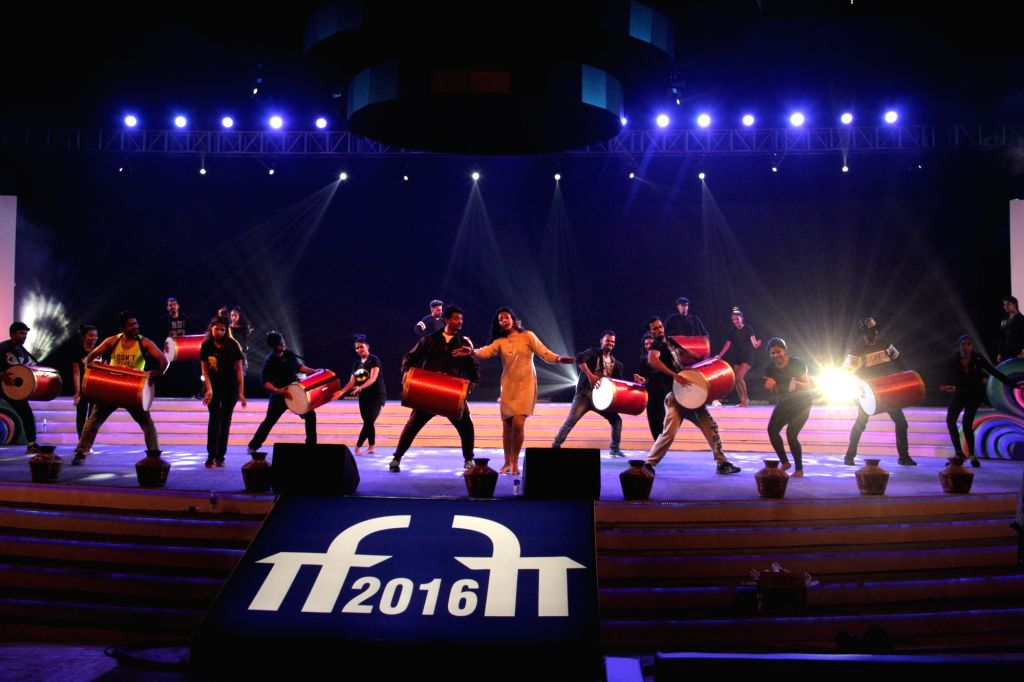 Artists rehearsing on the eve of IFFI inauguration in Goa on Nov. 19, 2016.  The opening ceremony of the festival will celebrate the journey and contribution of women in Indian Cinema and themed as ...