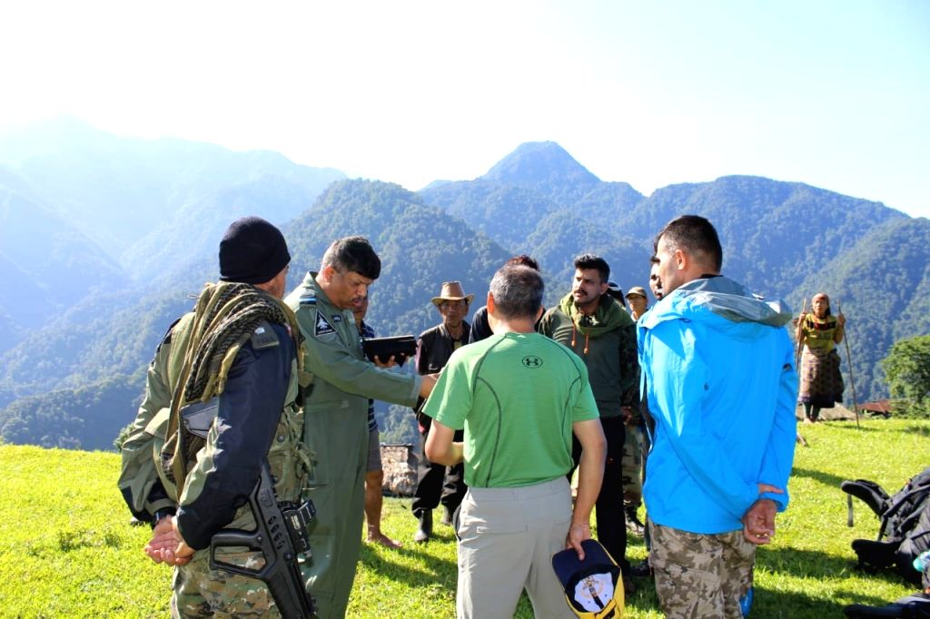 Arunachal Pradesh: Mountaineers who have been inducted by Mi-17s and Advanced Light Helicopter (ALH) as part of the massive operation started by the Indian Air Force, Army and the civil ...