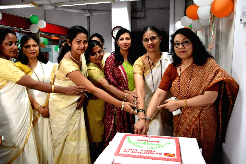 Arundhaty Ghosh, Member (Operations) Department Posts of India at the inauguration of all-women post office at Mahim Bazar in Mumbai on Jan 25, 2020. - Arundhaty Ghosh