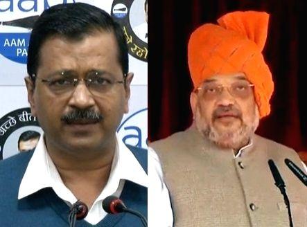 Arvind Kejriwal and Amit Shah. - Arvind Kejriwal and Amit Shah
