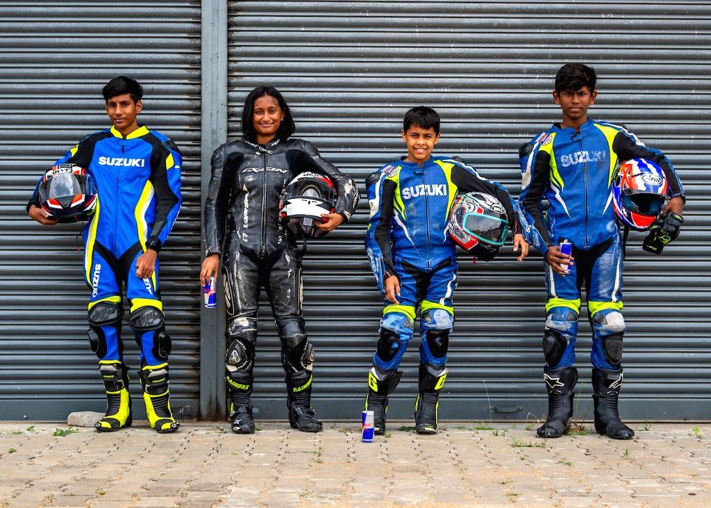 Aryan Gaurav, Aditi Krishnan, Ikshan Shanbag and Prashant at the Red Bull Road to Rookies Cup.