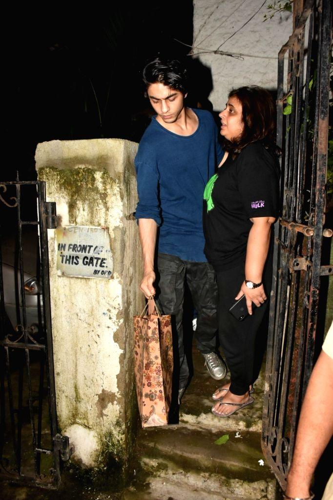 Aryan Khan, son of actor Shah Rukh Khan and Gauri Khan seen at Bandra in Mumbai, on July 16, 2019. - Shah Rukh Khan