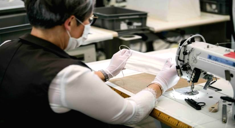 As Luxury brands produce medical wear, domestic firms take cue.