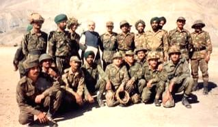 As the country observes 20th Anniversary of Kargil Vijay Diwas, Prime Minister Narendra Modi took to his Twitter handle to share throwback pictures during his visit to Kargil in 1999 and his interactions with the soldiers. (Photo: Twitter/@narendramo - Narendra Modi