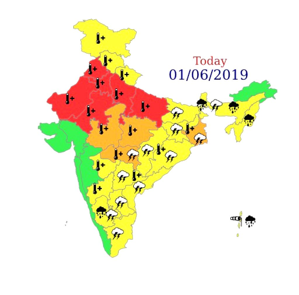 "As the minimum temperature touched 27.6 degrees Celsius on Saturday in the Delhi-NCR region, the India Meteorological Department (IMD) has issued the highest ""red"" alert for some parts of ..."