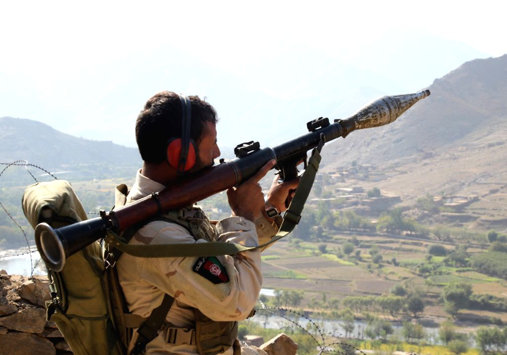 ASADABAD (AFGHANISTAN), Oct. 14, 2017 An Afghan security force member takes part in a military operation against Islamic State (IS) in Marawar district of eastern Kunar province, ...