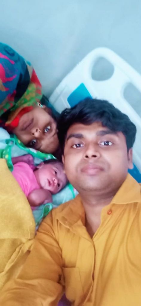 Asha Kumari 04610 (S7) in shramik special train entered in labour pain at 1900 hrs (Sirari Railway station in Keul-Gaya line). Immediately, she was taken to Sadar Hospital and attended with help of DM/Sheikhpura. At 07:30 today she has been blessed w