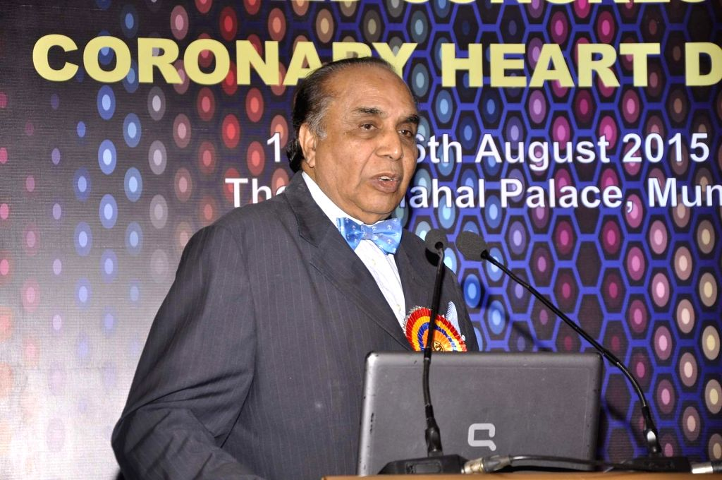 AShatrughan Sinha speaks during the inauguration of World Congress on Coronary Heart Disease, organized by Heart Foundation of India, in Mumbai,on August 14, 2015.