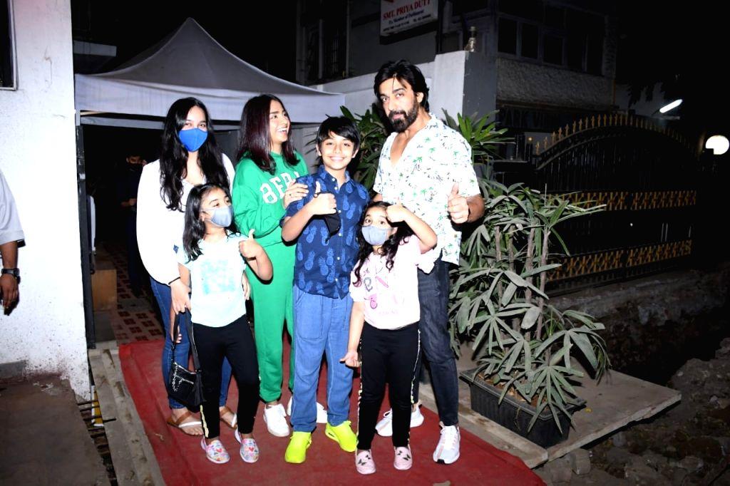 Ashish Chaudhary & Family Spotted at Izumi Restaurant in Bandra on Sunday 07th March, 2021. - Ashish Chaudhary