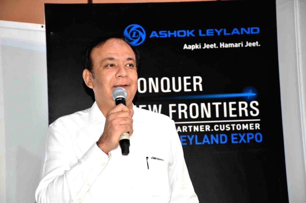 Ashok Leyland Global Trucks President Anuj Kathuria during a programme organised to showcase indigenously developed Intelligent Exhaust Gas Recirculation Technology for BS4 engines, in ...