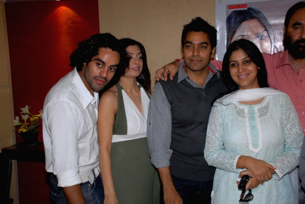 Ashutosh Rana and Sakshi Tanwar at Coffee Shop film promotion.