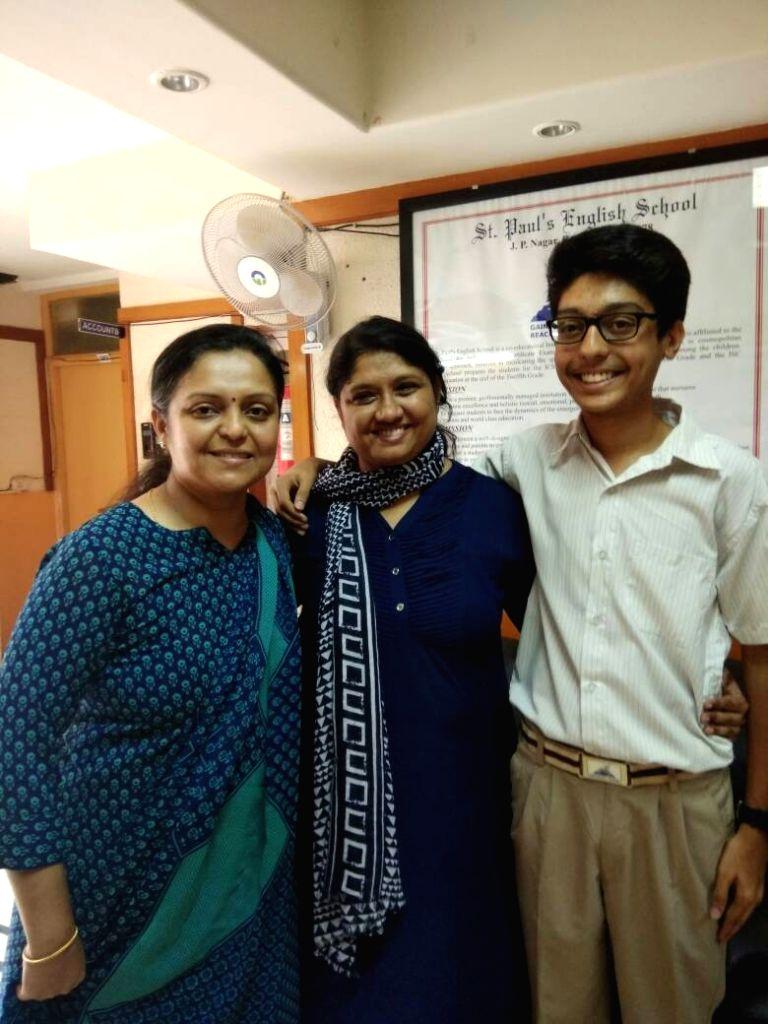 Ashwin Rao of St Paul's English School, Bengaluru who along with Muskan Abdullah Pathan of Pune's Hutchings High School was declared topper in ICSE exam on May 29, 2017. - Ashwin Rao