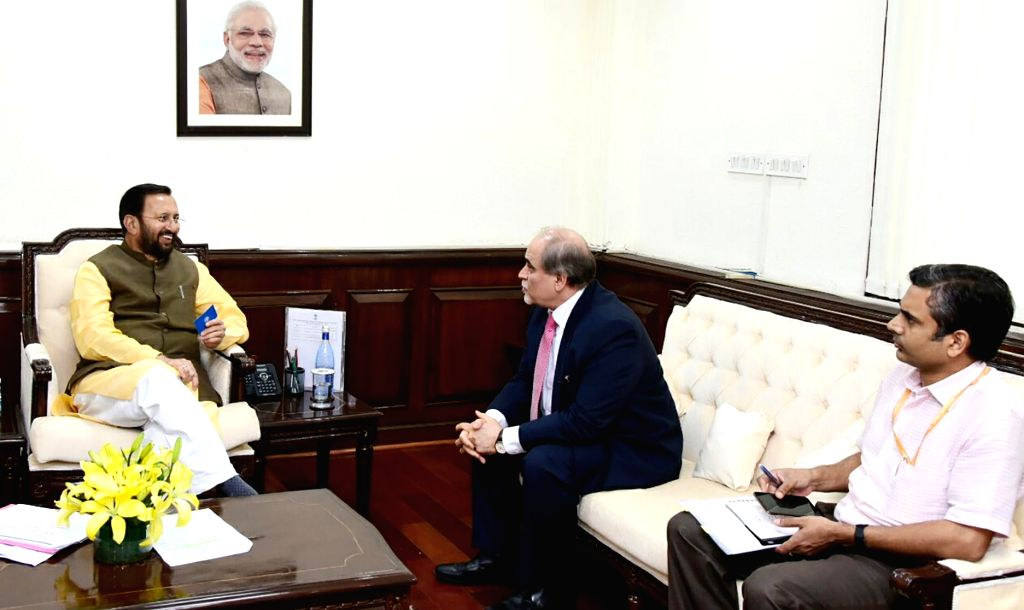 Asia-Pacific Broadcasting Union (ABU) Secretary General Javad Mottaghi meets Union Environment, Forest and Climate Change and Information and Broadcasting Minister Prakash Javadekar in New ... - Prakash Javadekar