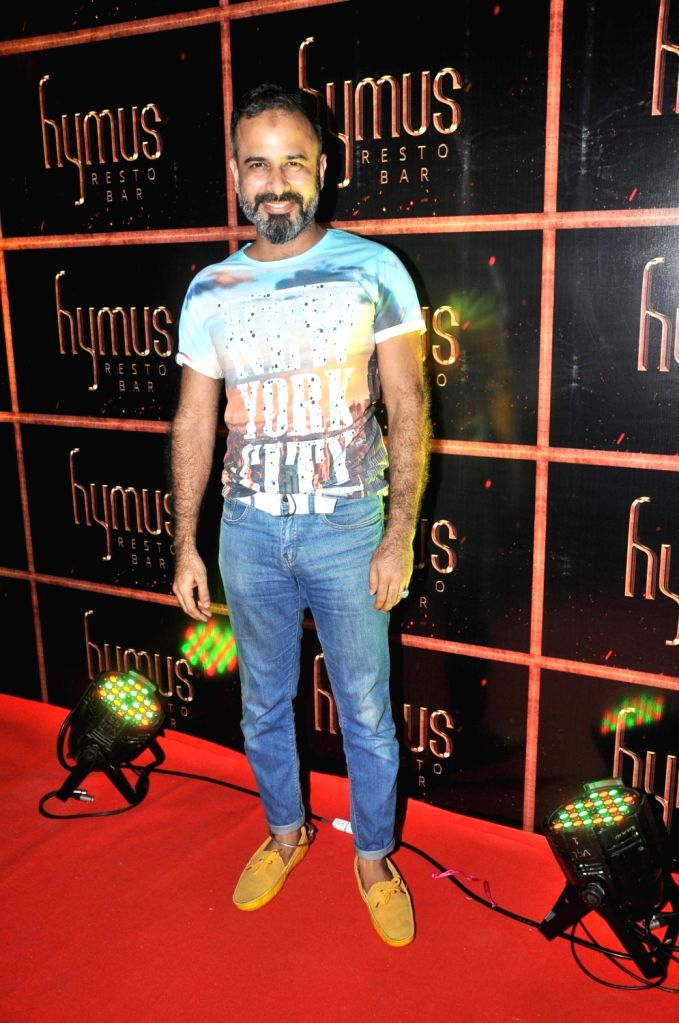 Asif Merchant during the party organised to celebrate the opening of Hymus Resto Bar in Mumbai, on August 12, 2016.