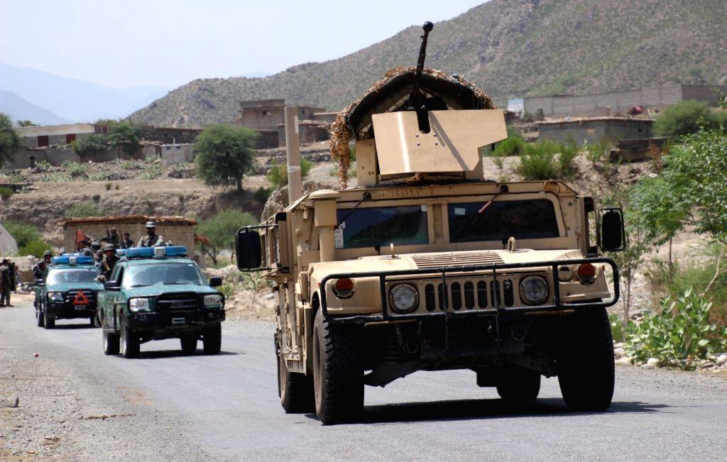 ASMAR, Aug. 10, 2017 - Photo taken on Aug.10, 2017 shows Afghan military vehicles during a military operation in Asmar district of Kunar province, eastern Afghanistan. (Xinhua/Emran waak)