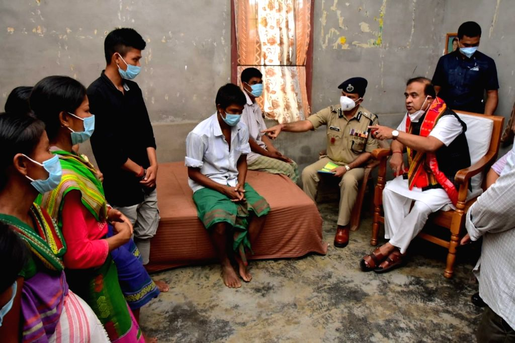 Assam CM visits family of two sisters found hanging from tree, assures stern action.