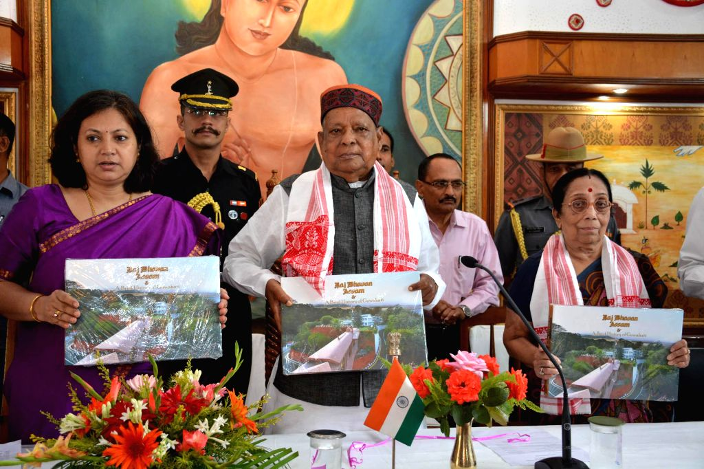 Assam Governor J.B. Patnaik and state's Cultural Affairs minister Pranati Phukan at the release of `Coffee Table Book on Raj Bhawan, Assam & A Brief History of Guwahati`at Raj Bhawan in Guwahati . - Pranati Phukan