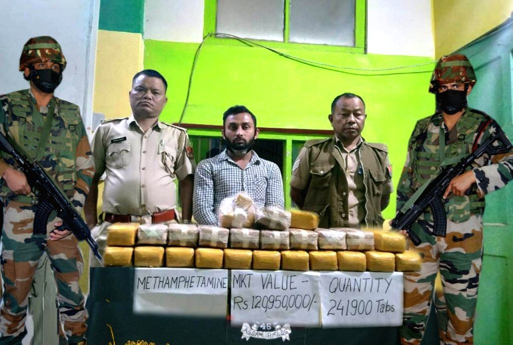ASSAM RIFLES RECOVERS METHAMETAPHINE TABLETS, APPREHEND ONE INDIVIDUAL IN. MIZORAM.