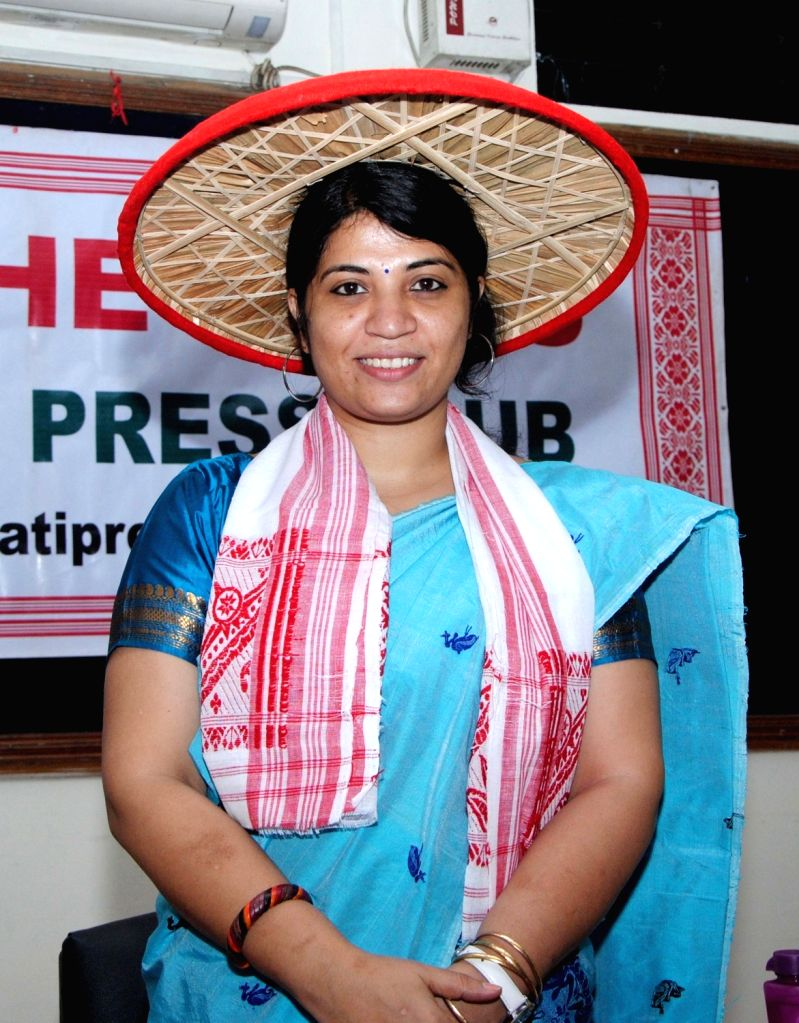 Assam's renowned environmentalist Purnima Devi Barman who has won the prestigious Whitley Awards during a press conference in Guwahati on May 30, 2017.