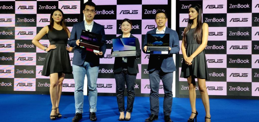 ASUS India Head (ROG and PC) Arnold Su, Country Product Manager Leila Lin and Country Head Leon Yu at the launch of ZenBook 13, ZenBook 14 and ZenBook 15 laptops in New Delhi, on Jan 30, ...