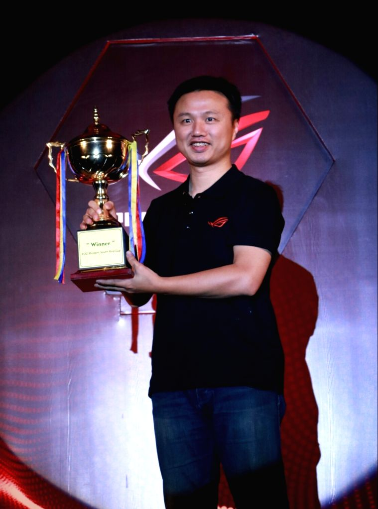 ASUS India Region Head for South Asia & Country Manager Peter Chang during the launch of ASUS Republic of Gamers (ROG) Masters 2017 India and APAC Qualifiers in New Delhi on June 28, ...