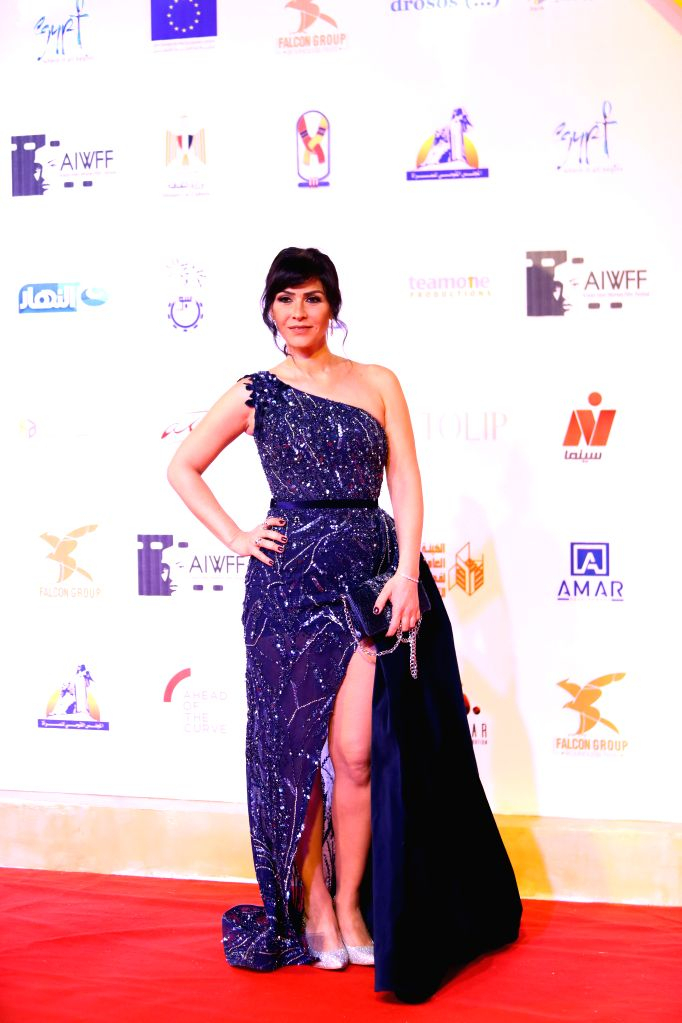 ASWAN (EGYPT), Feb. 10, 2020 Egyptian actress Basma Hassan attends the opening ceremony of the Aswan International Women Film Festival in Aswan, Egypt, on Feb. 10, 2020. The fourth ... - Basma Hassan