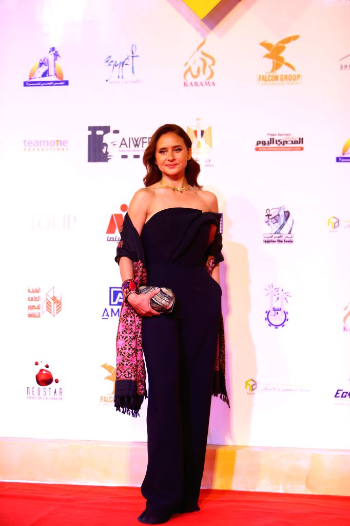 ASWAN (EGYPT), Feb. 10, 2020 Egyptian actress Nelly Karim attends the opening ceremony of the Aswan International Women Film Festival in Aswan, Egypt, on Feb. 10, 2020. The fourth edition ... - Nelly Karim