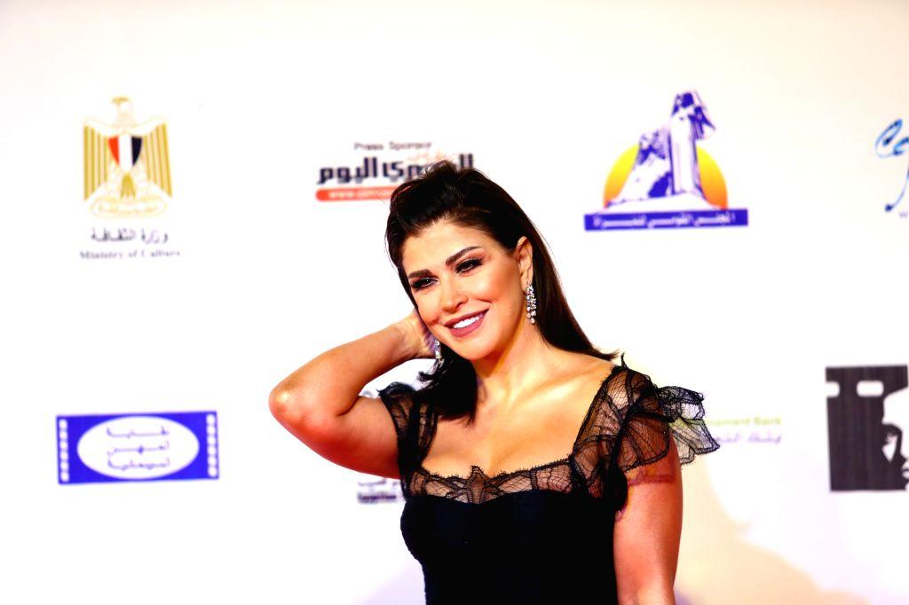 ASWAN (EGYPT), Feb. 10, 2020 Syrian actress Jomana Mourad attends the opening ceremony of the Aswan International Women Film Festival in Aswan, Egypt, on Feb. 10, 2020. The fourth edition ... - Jomana Mourad