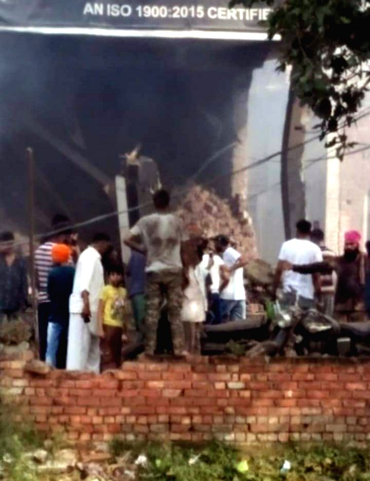 At least 16 people were killed and many injured in a blast at an unauthorized firecracker factory in a residential in Batala town of Punjab's Gurdaspur district on Sep 4, 2019. Rescue ...