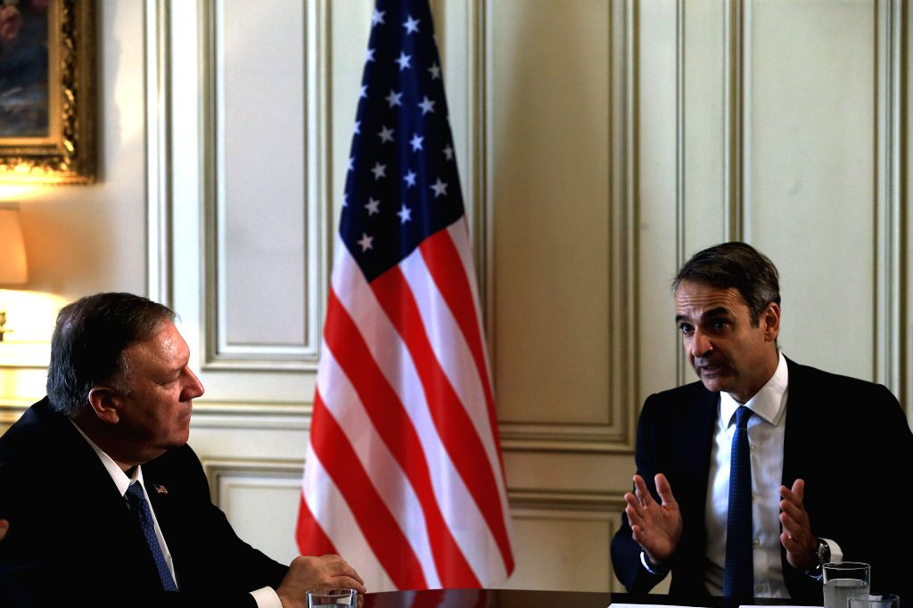 Athens, Jan 11 (IANS) Greek political party leaders expressed concern over tensions in the Mediterranean Sea and the Middle East and opposed the upgrading of Greece's defence cooperation with the US during a series of meetings with Greek Prime Minist - Kyriakos Mitsotakis