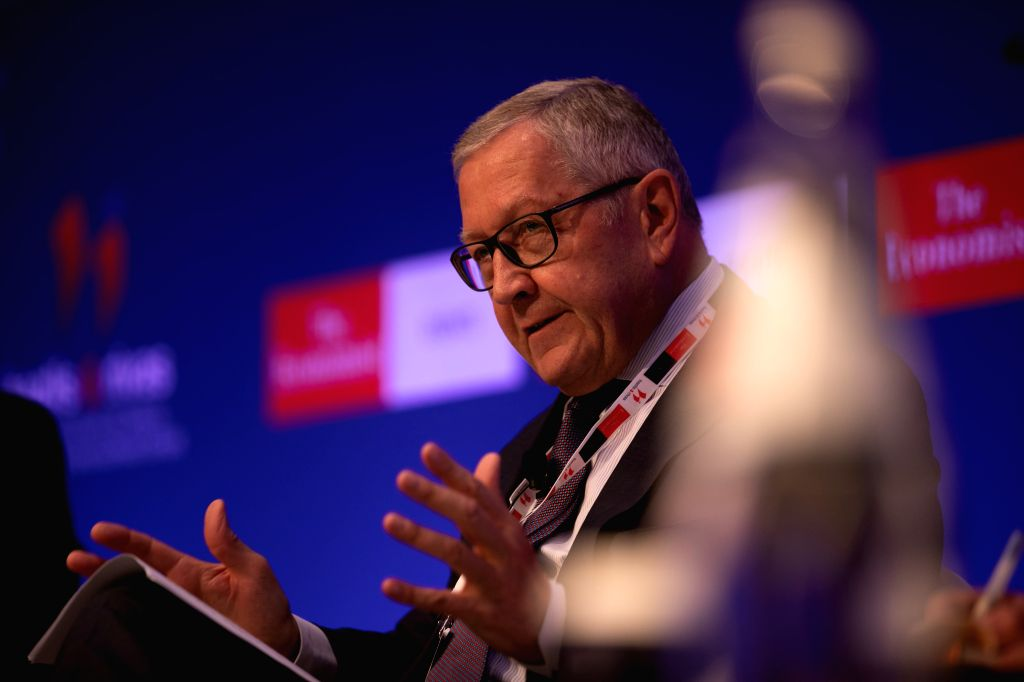 ATHENS, July 16, 2019 - European Stability Mechanism (ESM) Managing Director Klaus Regling speaks during an economic forum in Athens, Greece, on July 16, 2019. Greece's new Finance Minister Christos ... - Christos Staikouras