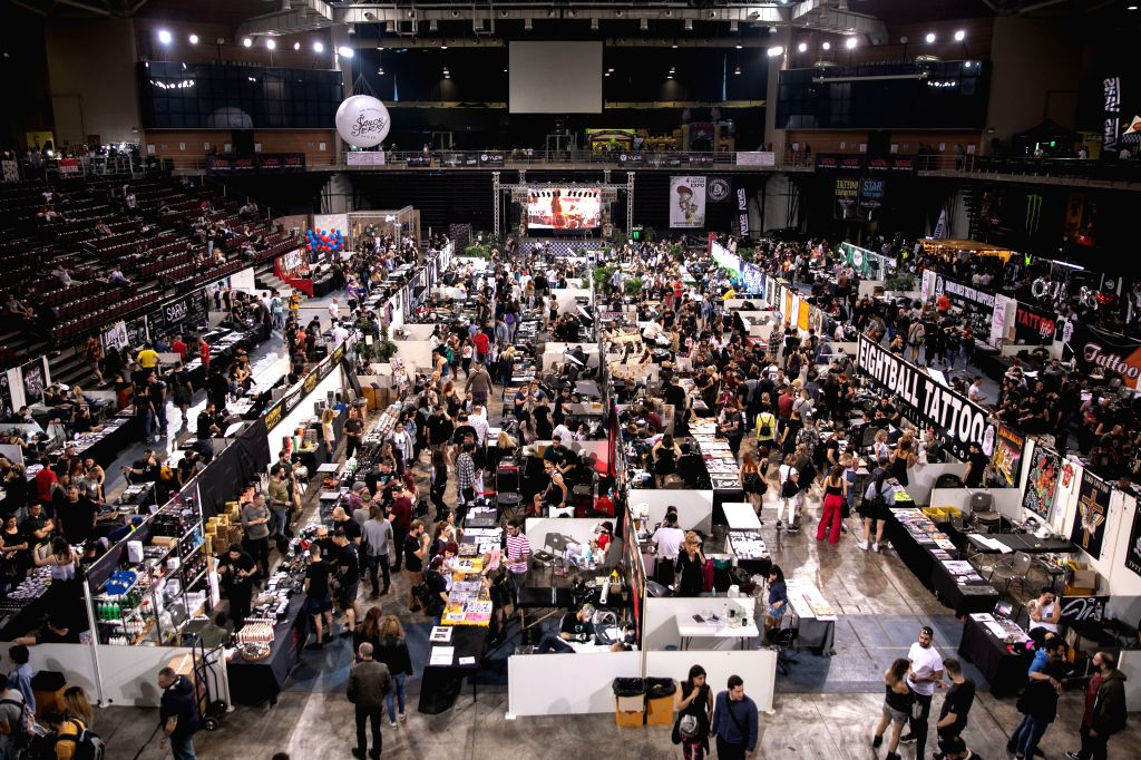 ATHENS, May 12, 2019 - People take part in the 13th International Athens Tattoo Convention in Athens, Greece, on May 11, 2019.