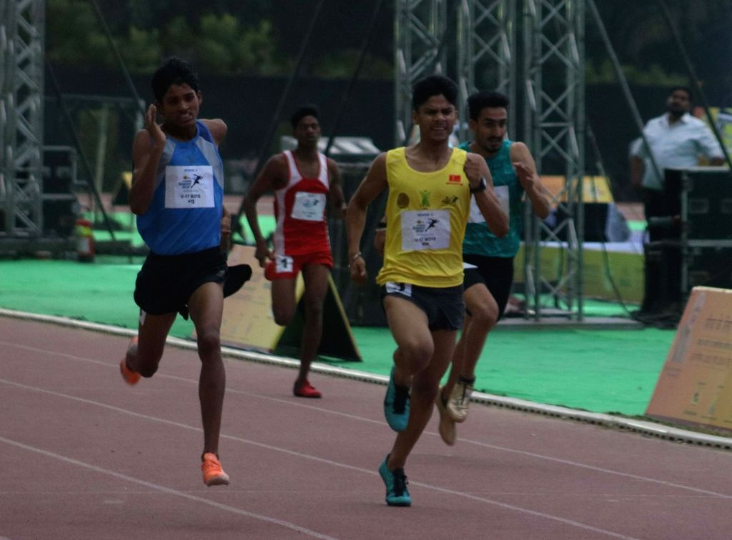 Athletes during selections for 2020 Olympic in New Delhi, on May 10, 2017.