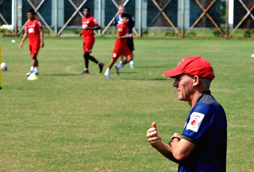 ATK Head Coach Steve Coppell during a practice session ahead of an Indian Super League (ISL) 2018 match against Chennaiyin FC in Kolkata, on Oct 25, 2018.