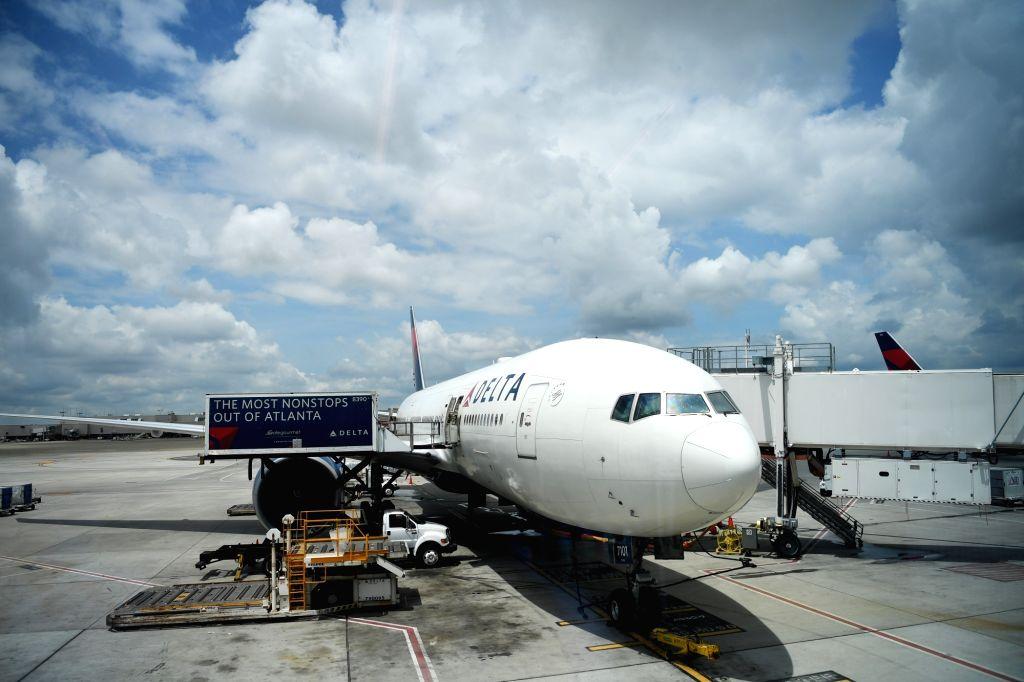 ATLANTA, July 20, 2018 - Photo taken on July 20, 2018 shows the passenger plane for the first Atlanta-Shanghai flight at Hartsfield-Jackson Atlanta International Airport in Atlanta, the United ...