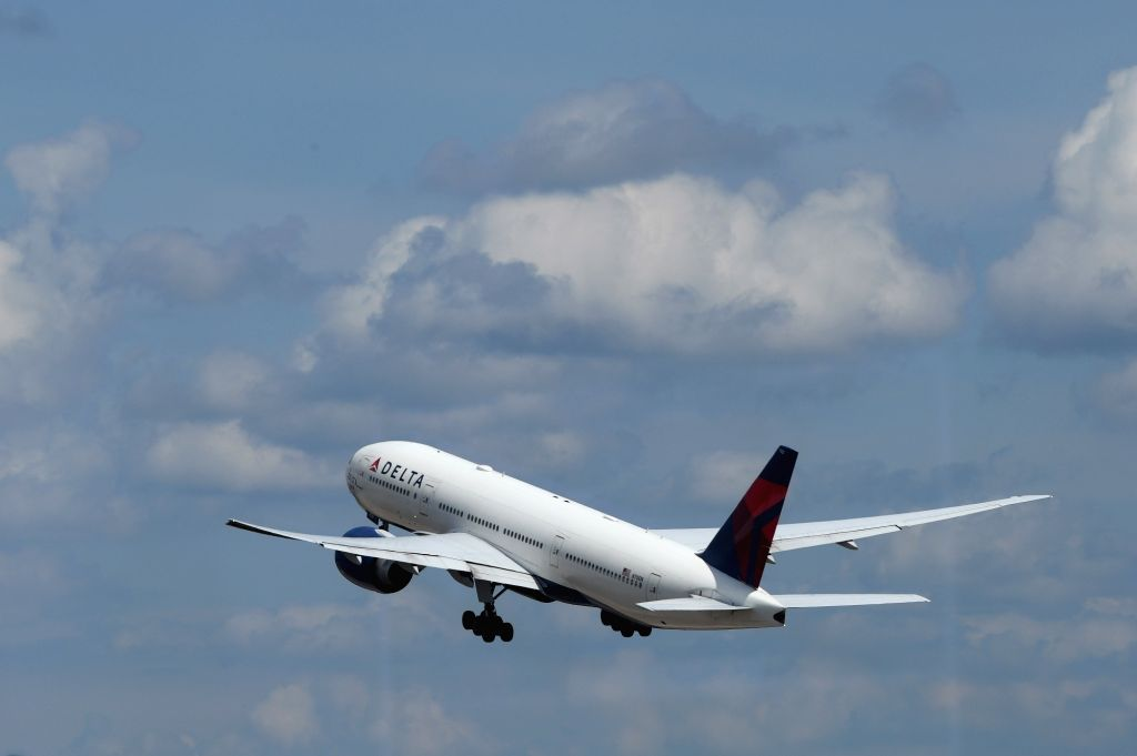 ATLANTA, July 20, 2018 - The first Atlanta-Shanghai flight takes off at Hartsfield-Jackson Atlanta International Airport in Atlanta, the United States, on July 20, 2018. U.S. airline giant Delta Air ...