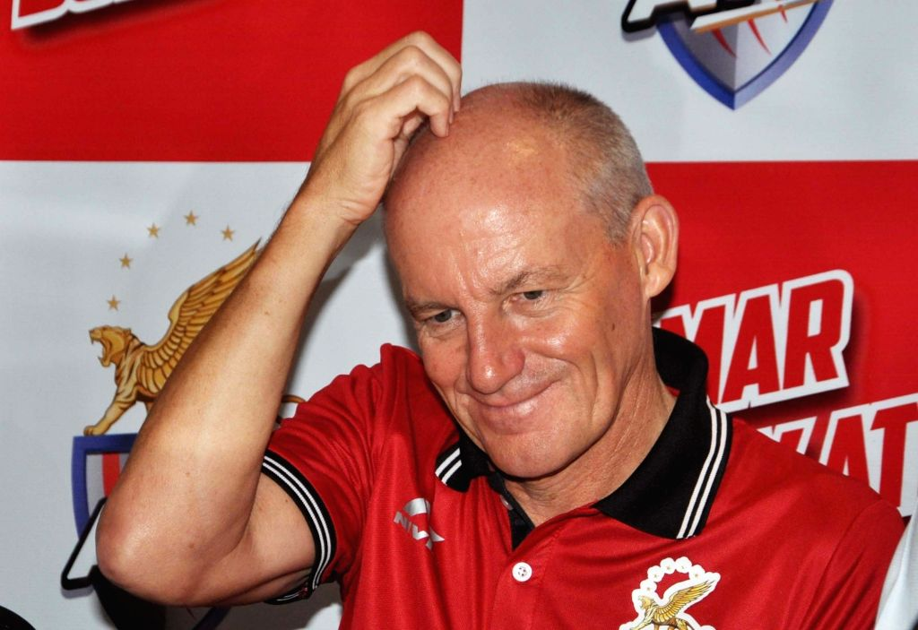 Atletico de Kolkata (ATK) head coach  Steve Coppell at the launch of the team's new jersey, in Kolkata on Sept 20, 2018.