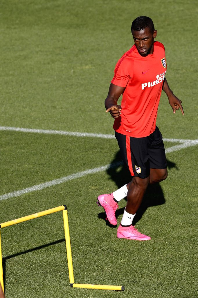 Atletico Madrid's Colombian striker Jackson Martinez during a team's training session at Majadahonda Sports Complex, outskirts of Madrid, Spain, 17 August 2015. EFE/Kiko Huesca/IANS