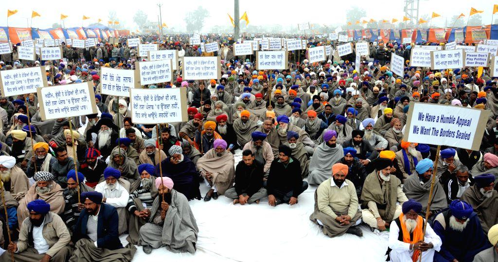 People participate in an anti-drug rally at Attari border, near Amritsar on Jan. 5, 2015.