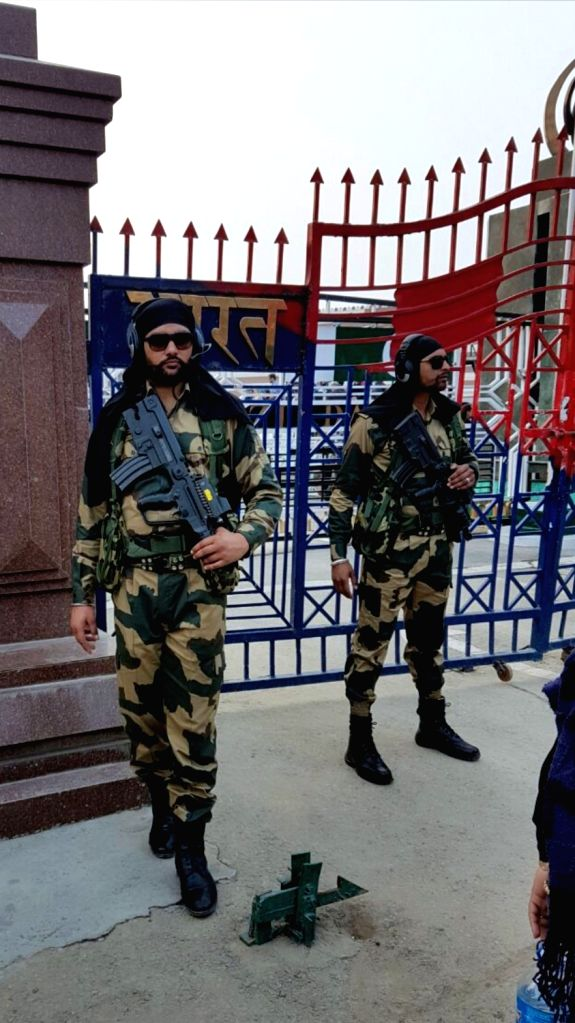 Attari (Punjab): Security beefed up at at the Attari Joint Check Post (JCP) in Punjab where a large number of people have assembled to greet Indian Air Force (IAF) pilot Abhinandan Varthaman who is likely to be released by Pakistani authorities later