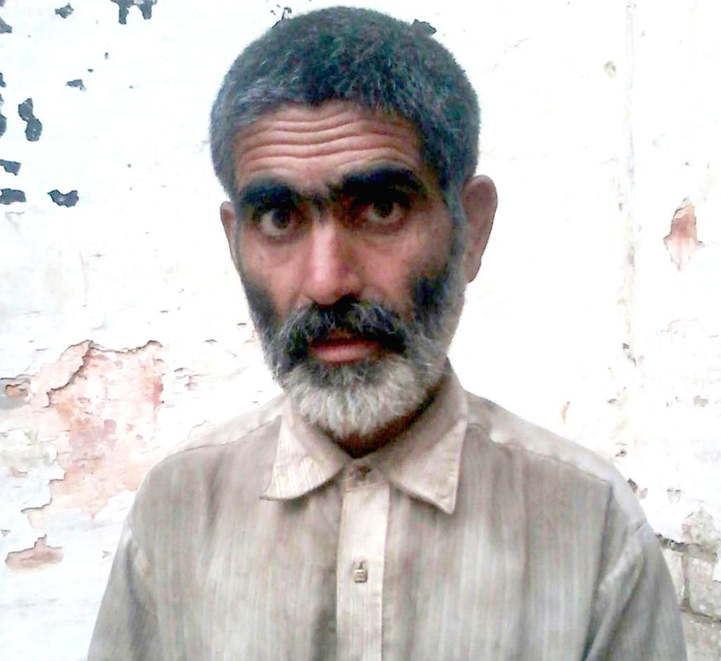 :Attari: Salim Iqbal A Pakistani national who strayed into India in Punjab's Amritsar sector has been sent back home, the Border Security Force (BSF) in Attari on Nov 15, 2015. Iqbal (40) and ...