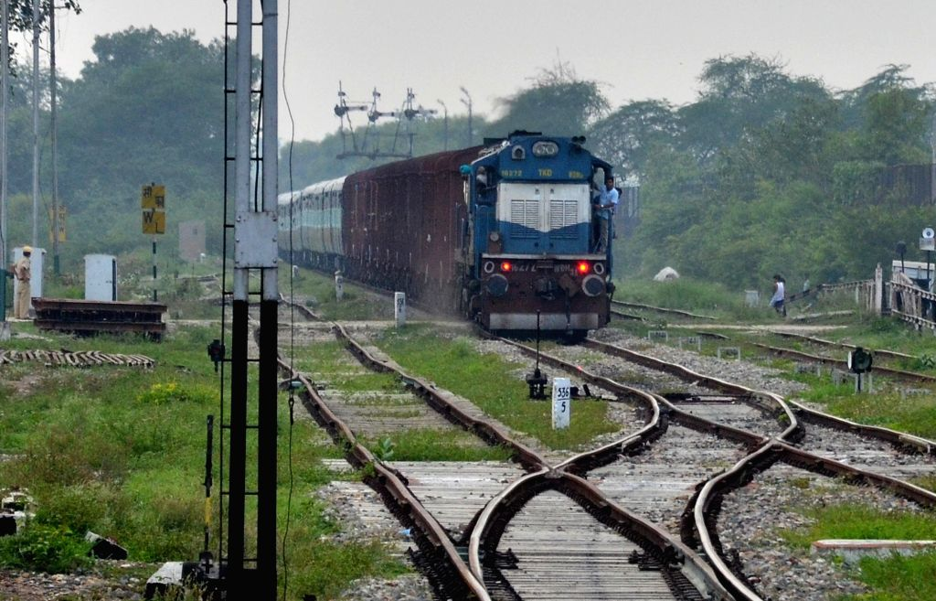 Attari: Samjhauta Express arrives at Attari railway station in Punjab, India on Aug 8, 2019. Pakistan announced the suspension of Samjhauta Express train service with India following New Delhi's revocation of special status for Jammu and Kashmir. (Ph