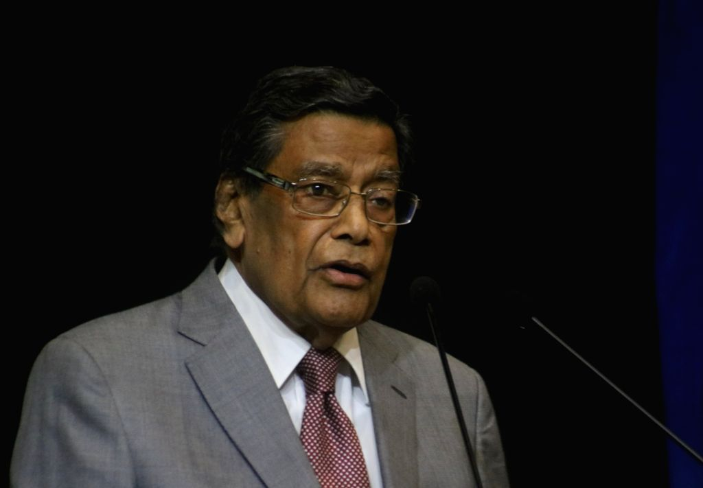 "Attorney General of India K K Venugopal addresses at the launch of the book ""Law, Justice and Judicial Power: Justice P.N. Bhagwati's Approach"" in New Delhi, on Feb 8, 2019."
