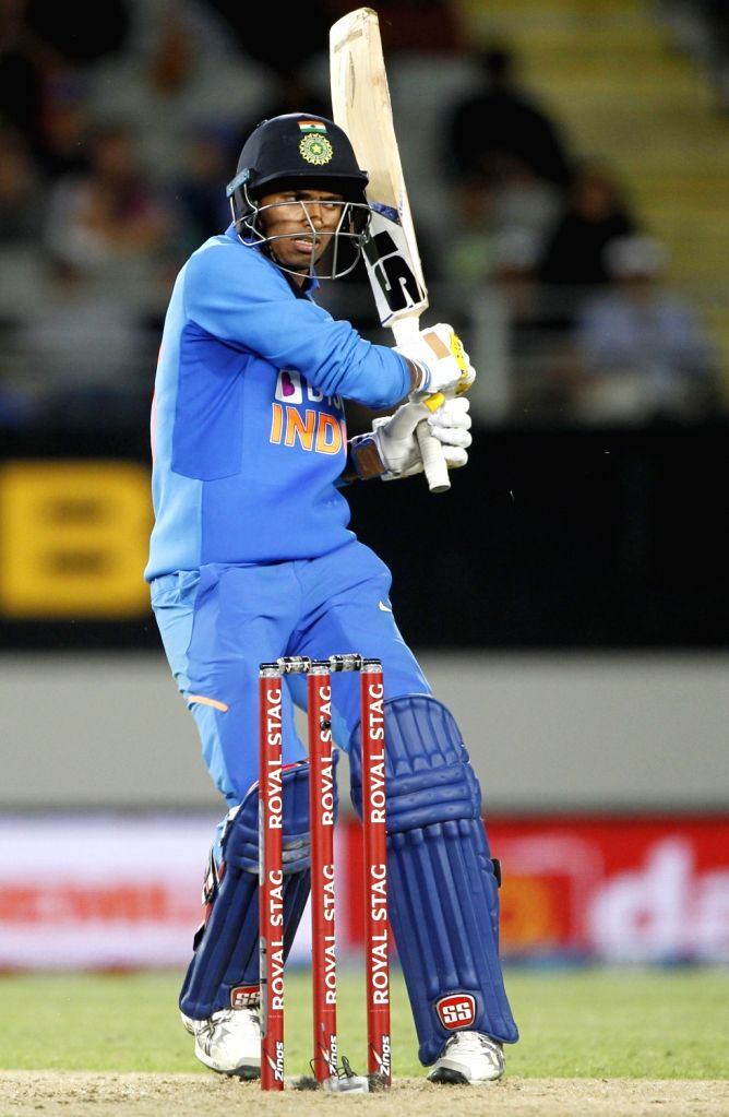 Auckland: Auckland: India's Navdeep Saini in action during the 2nd ODI of the three-match series between India and New Zealand at the Eden Park in Auckland,New Zealand on Feb 8, 2020.  (Photo: Surjeet Yadav/IANS) - Surjeet Yadav
