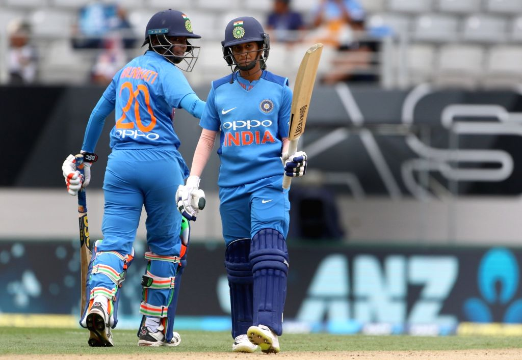 Auckland (New Zealand): India's Jemimah Rodrigues in action during the second women's T20I match between India and New Zealand at Eden Park in Auckland, New Zealand on Feb 8, 2019. (Photo: Surjeet Yadav/IANS) - Surjeet Yadav