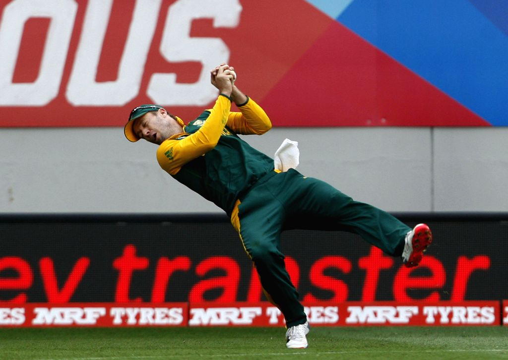 South African captain AB de Villiers in action during an ICC World Cup 2015 match between Pakistan and South Africa at Eden Park, Auckland, New Zealand on March 7, 2015.