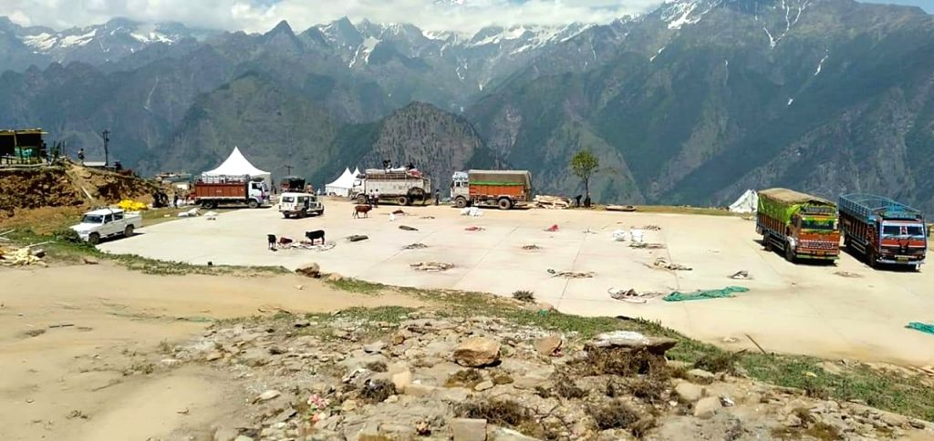 Auli: A view of the site where the high-profile wedding of the sons of South Africa-based businessmen brothers Ajay and Atul Gupta was held at the ski resort of Auli in Uttarakhand's Chamoli district, after the Joshimath municipality conducted a clea - Atul Gupta