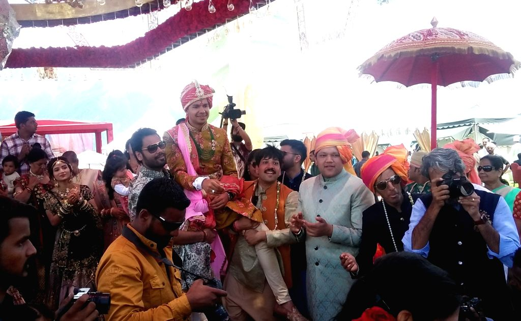 Auli: Wedding ceremonies of the sons of South Africa-based businessmen brothers Ajay and Atul Gupta underway in Uttarakhand's leading tourist resort Auli. The ceremonies began on Tuesday and are likely to end on Saturday. (Photo: IANS) - Atul Gupta