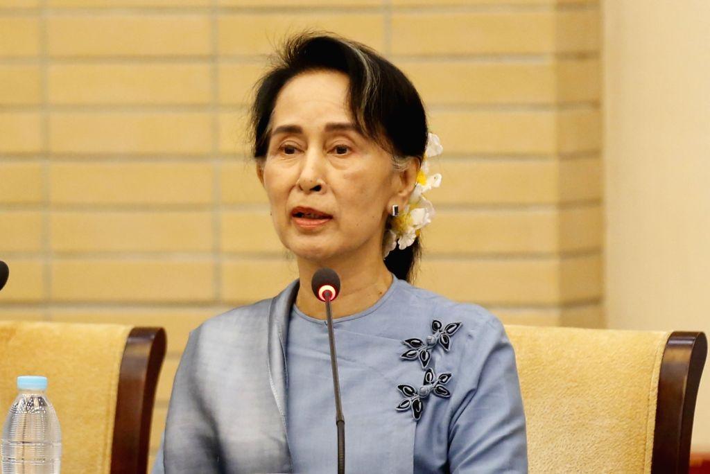 Aung San Suu Kyi. (Xinhua/U Aung/IANS)