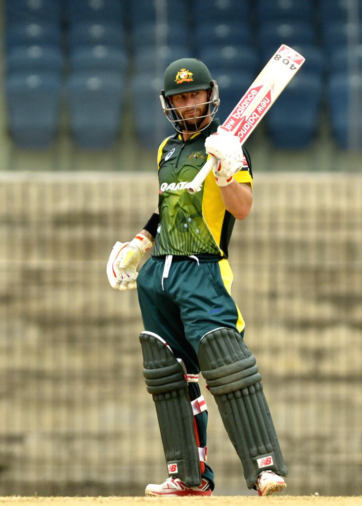 Australia `A` player Matthew Wade celebrates after his century during `India A Team Triangular Series` match between South Africa `A` and Australia `A` at MAC Stadium in Chennai, on Aug 12, ...